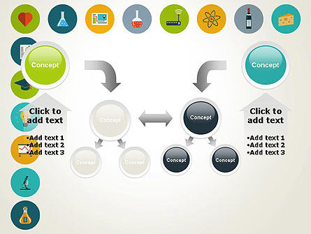 Flat Design Round Icons PowerPoint Template Slide 19