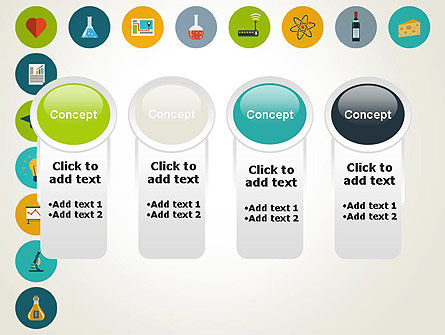 Flat Design Round Icons PowerPoint Template Slide 5