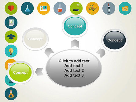 Flat Design Round Icons PowerPoint Template Slide 7