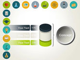 Flat Design Round Icons PowerPoint Template#11