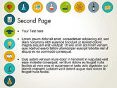 Flat Design Round Icons PowerPoint Template#2