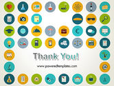 Flat Design Round Icons PowerPoint Template#20