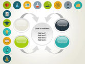 Flat Design Round Icons PowerPoint Template#6