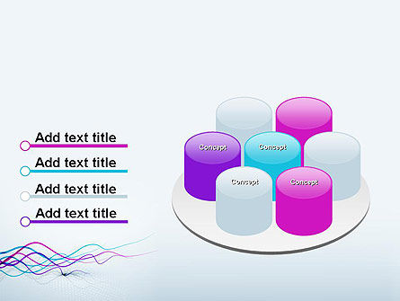 Fluttering Ribbons Abstract PowerPoint Template Slide 12