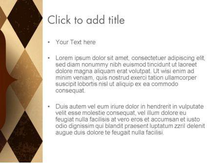 Checkered Diamond Pattern PowerPoint Template, Slide 3, 13563, Abstract/Textures — PoweredTemplate.com