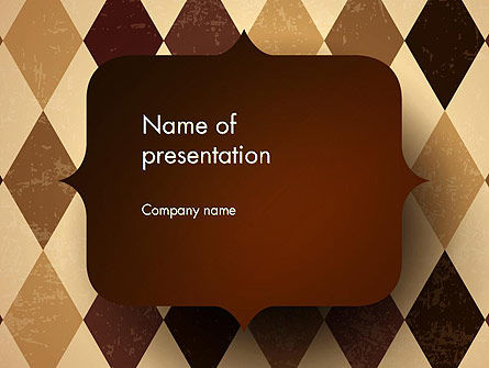 Abstract/Textures: Checkered Diamond Pattern PowerPoint Template #13563