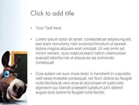 Funny Donkey PowerPoint Template, Slide 3, 13564, Education & Training — PoweredTemplate.com