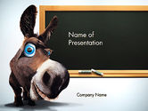 Education & Training: Funny Donkey PowerPoint Template #13564