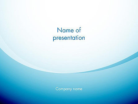 Aqua Theme Abstract PowerPoint Template