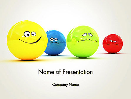 Art & Entertainment: 3D Emotions PowerPoint Template #13567