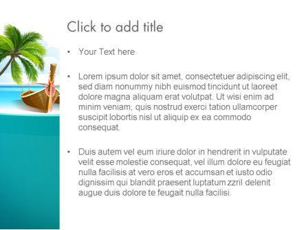 Tropical Island PowerPoint Template, Slide 3, 13568, Nature & Environment — PoweredTemplate.com