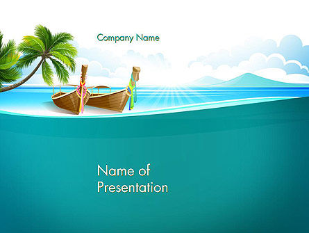 Tropical Island PowerPoint Template, 13568, Nature & Environment — PoweredTemplate.com