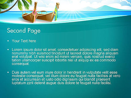 Tropical Island PowerPoint Template, Slide 2, 13568, Nature & Environment — PoweredTemplate.com