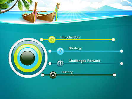 Tropical Island PowerPoint Template, Slide 3, 13568, Nature & Environment — PoweredTemplate.com