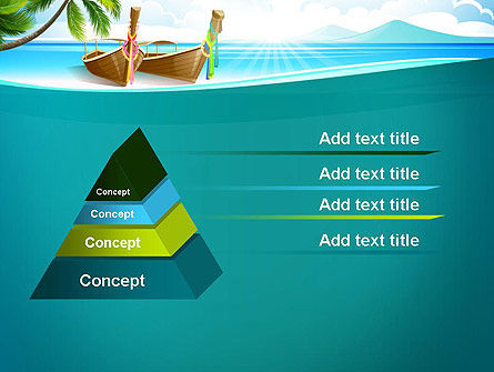 Tropical Island PowerPoint Template, Slide 4, 13568, Nature & Environment — PoweredTemplate.com