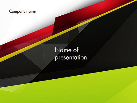 Abstract Broken Layers PowerPoint Template