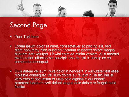 Happy Clients PowerPoint Template, Slide 2, 13570, People — PoweredTemplate.com