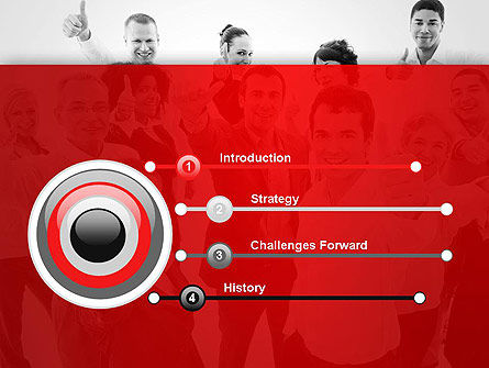 Happy Clients PowerPoint Template, Slide 3, 13570, People — PoweredTemplate.com