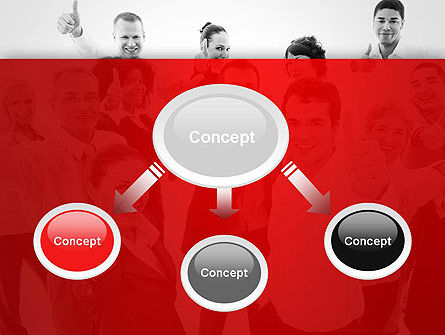Happy Clients PowerPoint Template, Slide 4, 13570, People — PoweredTemplate.com