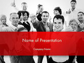 People: Happy Clients PowerPoint Template #13570