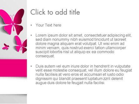 Pink Butterflies PowerPoint Template, Slide 3, 13571, Holiday/Special Occasion — PoweredTemplate.com