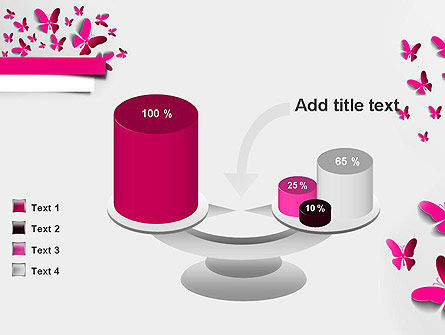 Pink Butterflies PowerPoint Template Slide 10