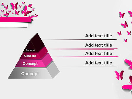 Pink Butterflies PowerPoint Template Slide 12