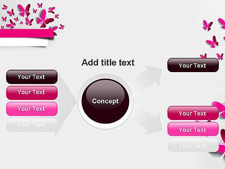 Pink Butterflies PowerPoint Template Slide 14