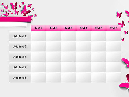 Pink Butterflies PowerPoint Template Slide 15