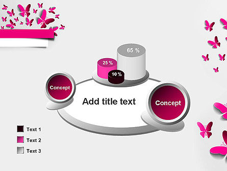 Pink Butterflies PowerPoint Template Slide 16