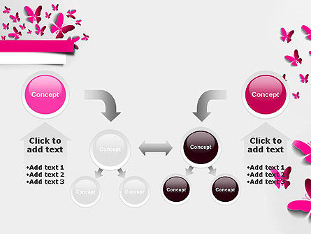 Pink Butterflies PowerPoint Template Slide 19