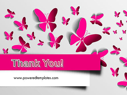 Pink Butterflies PowerPoint Template Slide 20