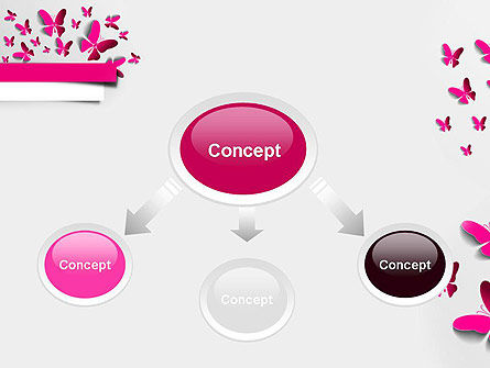 Pink Butterflies PowerPoint Template Slide 4