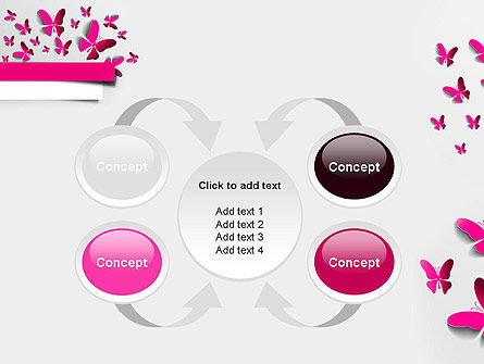 Pink Butterflies PowerPoint Template Slide 6
