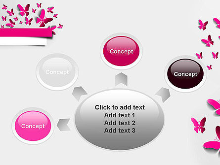 Pink Butterflies PowerPoint Template Slide 7
