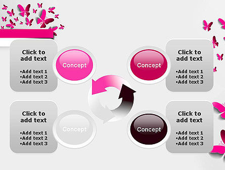 Pink Butterflies PowerPoint Template Slide 9