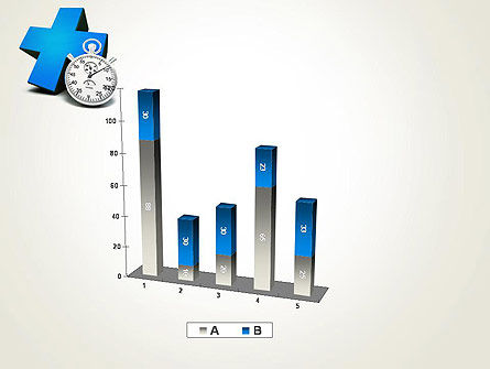 Blue Medical Cross and Stopwatch PowerPoint Template Slide 17