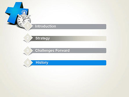 Blue Medical Cross and Stopwatch PowerPoint Template Slide 3