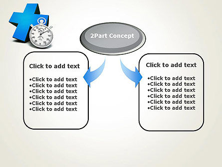 Blue Medical Cross and Stopwatch PowerPoint Template Slide 4