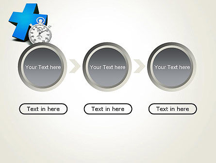 Blue Medical Cross and Stopwatch PowerPoint Template Slide 5