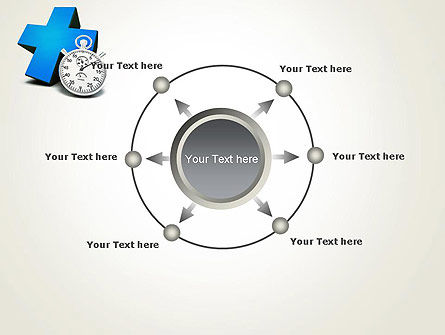 Blue Medical Cross and Stopwatch PowerPoint Template Slide 7