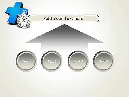 Blue Medical Cross and Stopwatch PowerPoint Template Slide 8