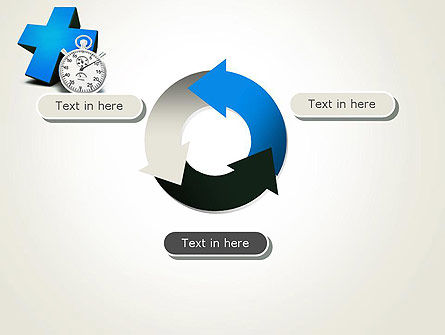 Blue Medical Cross and Stopwatch PowerPoint Template Slide 9