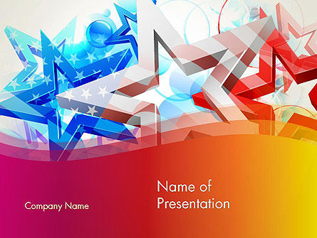 Stylized American Flag PowerPoint Template