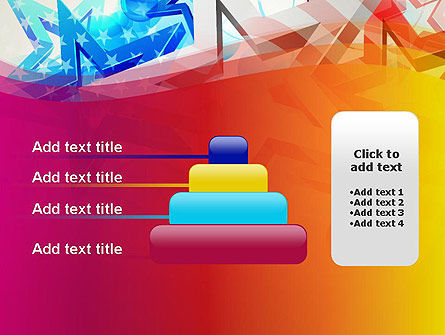Stylized American Flag PowerPoint Template Slide 8