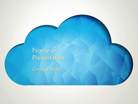 Blue Cloud PowerPoint Template, 13574, Careers/Industry — PoweredTemplate.com