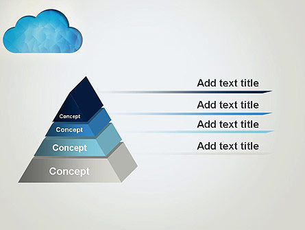 Blue Cloud PowerPoint Template Slide 12