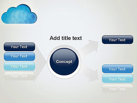 Blue Cloud PowerPoint Template Slide 14