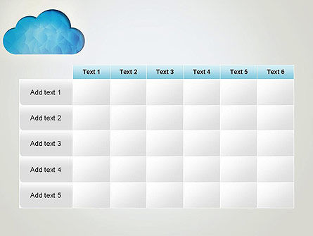 Blue Cloud PowerPoint Template Slide 15