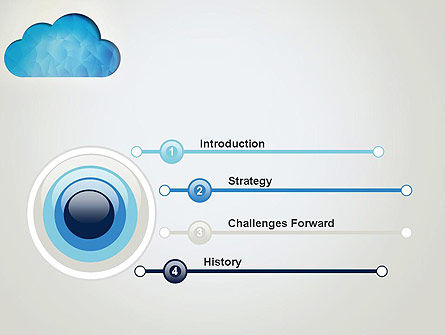 Blue Cloud PowerPoint Template, Slide 3, 13574, Careers/Industry — PoweredTemplate.com